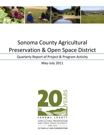 Quarterly Status on Projects and Programs - Sonoma County ...