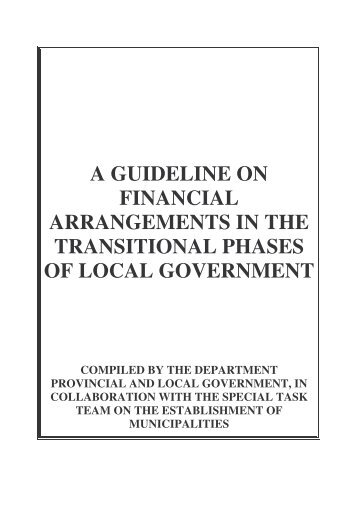 Guidelines for Financial Agreements - Multi-level government initiative