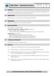 Slide Sheet Cleaning Procedure - West Coast District Health Board