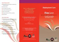 Firecare: Deployment Care - Queensland Fire and Rescue Service
