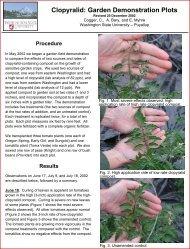 Clopyralid: Garden Demonstration Plots - Washington State University