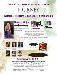 MIND • BODY • SOUL EXPO 2011 - The Journey Magazine