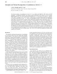 Adsorption and Thermal Decomposition of Acetaldehyde on Si (111 ...