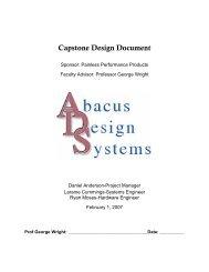Capstone Design Document (pdf) - Capstone Experience