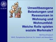 Umweltbezogene Belastungen und Ressourcen in Wohnung und ...
