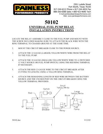 50102 universal fuel pump relay installation instructions 100 [ volvo 240 wiring diagram 1992 volvo 240 radio wiring u2022  at eliteediting.co