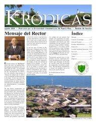 Mensaje del Rector - Recinto de Arecibo - Universidad ...