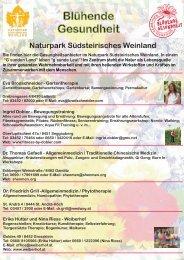Blühende Gesundheit Naturpark Südsteirisches Weinland