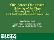 Global Wildlife Disease Surveillance: Does it exist? - One Border ...
