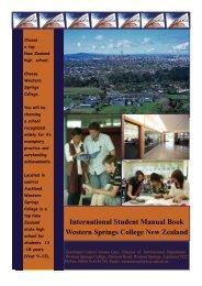 International Student Manual Book Western Springs College New ...