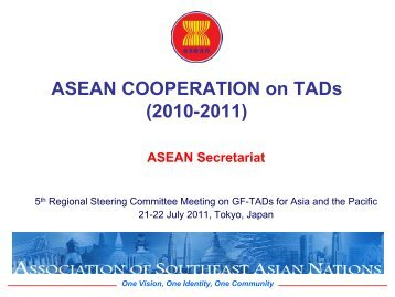 ASEAN COOPERATION on TADs - OIE Asia-Pacific