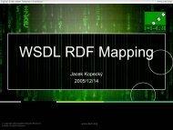 WSDL RDF Mapping - WSMO