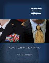 2010 Annual Report - Institute for Defense & Business