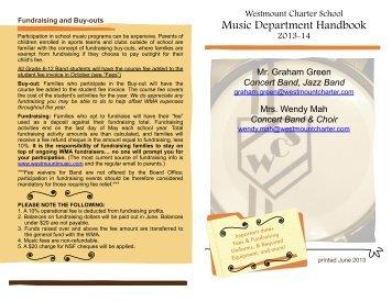 Music Handbook - Westmount Charter School