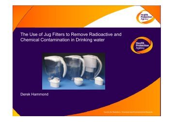 The use of jug filtration to reduce radioactive and chemical