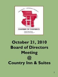 October 21, 2010 Board of Directors Meeting @ Country - Chamber ...