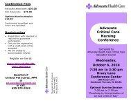 Advocate Critical Care Nursing Conference - Advocate Health Care