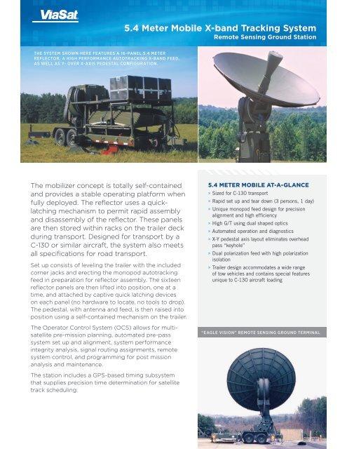 5 Meter Mobile Antenna - ViaSat