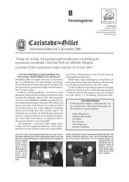 Informationsblad 2006 som pdf-fil (0,4 MB) - Carlstads-Gillet