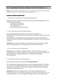 Marketing Grundlagen, VO im WS 2012/12 (Kapitel 1 – 8) - VoWi
