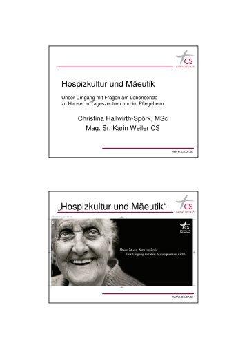 Hospizkultur und Mäeutik - End-Of-Life-Care