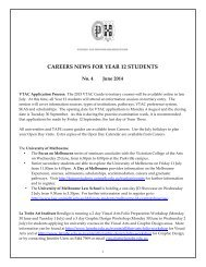 careers news for year 12 students - PEGSnet