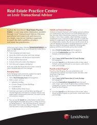 Real Estate Practice Center - LexisNexis® Litigation Solutions