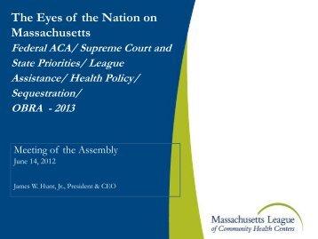 The Eyes of the Nation on Massachusetts - Massachusetts League ...