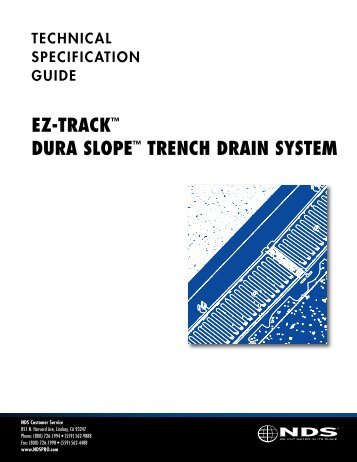 ez-track™ dura slope™ trench drain system - Drainage Solutions, Inc.