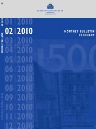 monthly bulletin february 2010 - European Central Bank - Europa