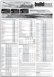 Audited consolidated financial results for the year ... - Buildmax.co.za
