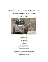 Defensie en de pers tijdens de Nederlandse ... - Boekje Pienter