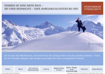 Angebot downloaden - Steigenberger Hotels and Resorts