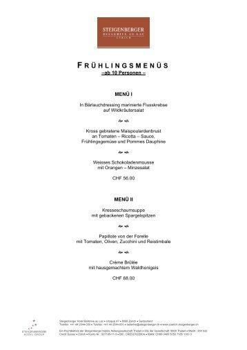 F RÜHLINGSMENÜS - Steigenberger Hotels and Resorts