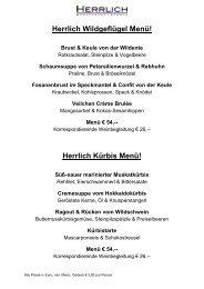 Herrlich Wildgeflügel Menü! Herrlich Kürbis Menü!