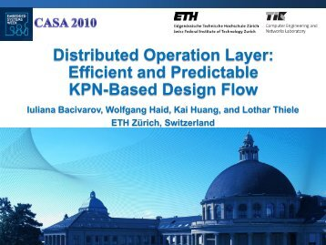 Distributed Operation Layer: Efficient Design Space Exploration of ...