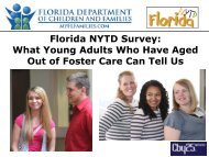 Florida NYTD Survey: What Young Adults Who Have Aged Out of ...