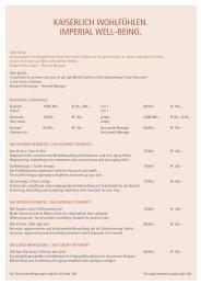 kaiserlich wohlfühlen. imperial well-being. - Steigenberger Hotels ...