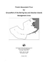 Management Plan for Groundfish in the Bering Sea Aleutian Islands ...