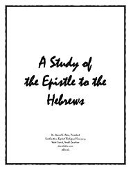 A Study of the Epistle to the Hebrews - Daniel Akin