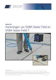 Aanbrengen SABA Sealer Field
