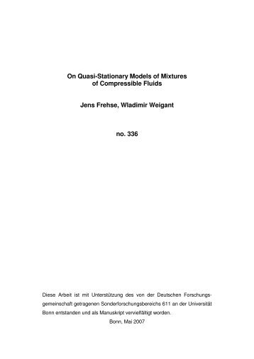 On Quasi-Stationary Models of Mixtures of Compressible Fluids ...