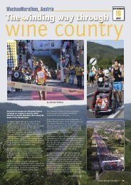 The winding way through wine country - Distance Running magazine