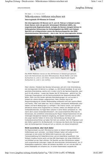 Interregionale JO-Rennen in Gstaad - Bödeli Skiteam