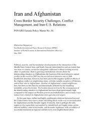 Iran and Afghanistan - George Washington University