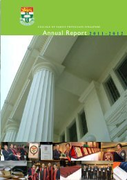 Annual Report 2011 - College of Family Physicians Singapore