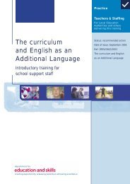 The curriculum and English as an Additional Language - NALDIC