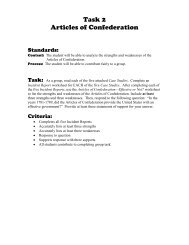 Task 2 Articles of Confederation