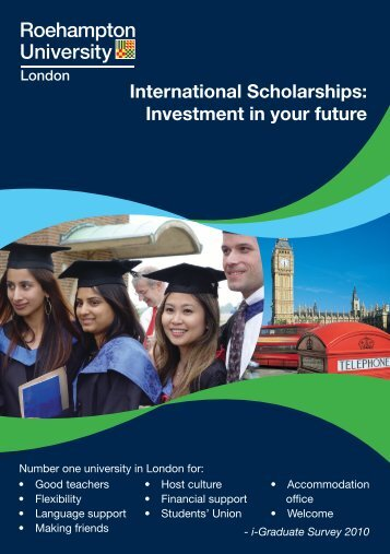 International Scholarships: Investment in your future - Roehampton