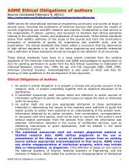 ASME Ethical Obligations of authors
